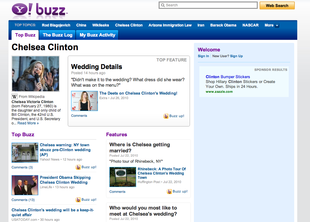 Yahoo! Buzz Topics
